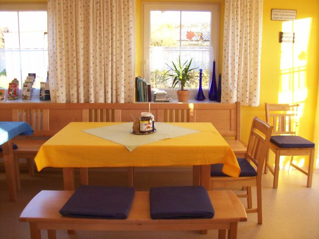 Unser Frühstücksraum nimmt immer mehr Gestaltung an